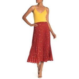 MAX STUDIO Pleated Woven Skirt